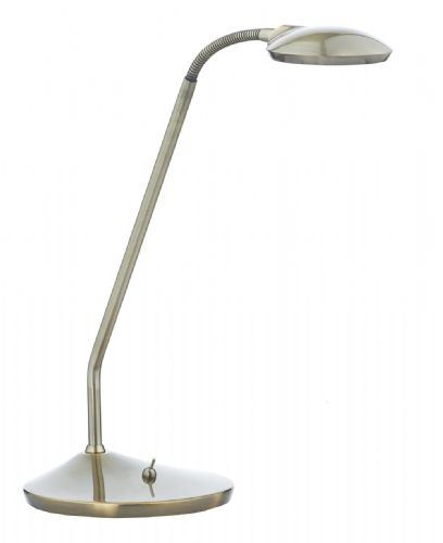 Dar Wellington Table Lamp Antique Brass Led WEL4075
